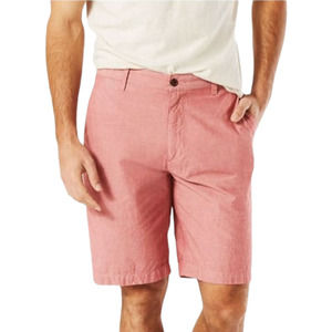 IZOD Solid Light Red Stretch Performance Shorts